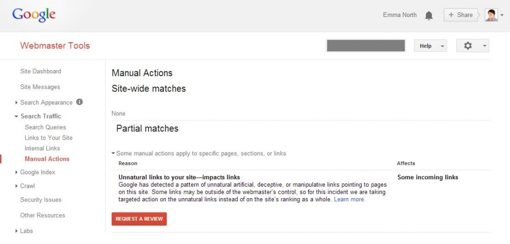 Recovering from a Partial Match Unnatural Links Penalty That Impacts Links