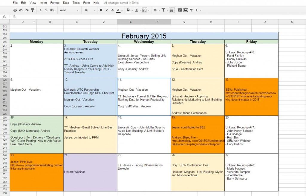 blank calendar google docs