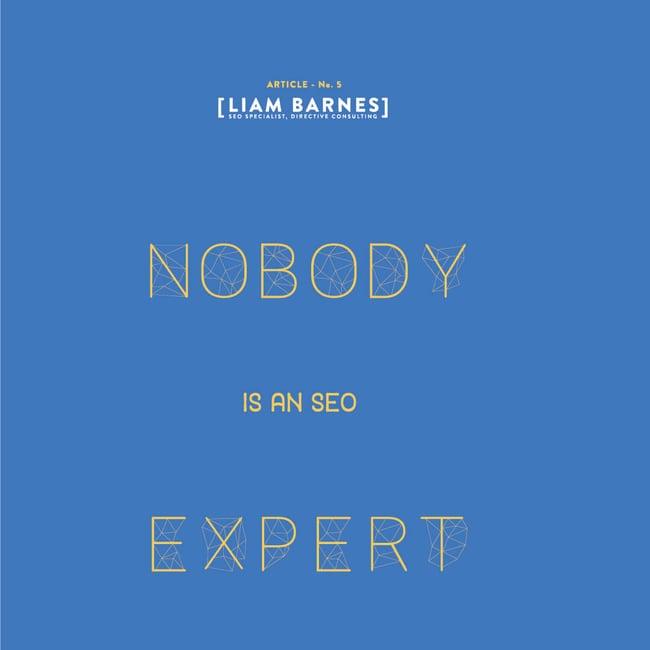 Nobody is an SEO expert