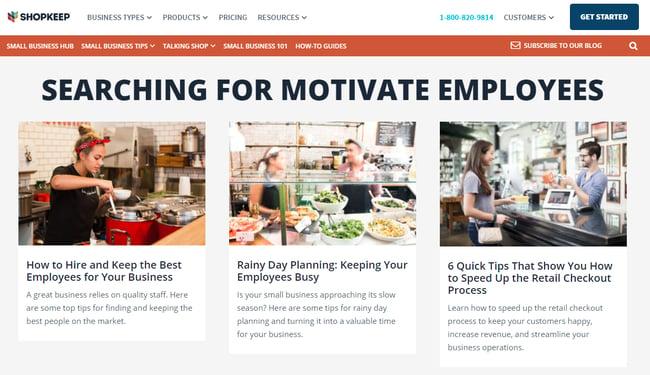 ShopKeep missing motivate employees