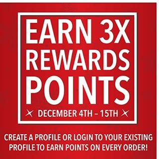 Earn 3X Points!