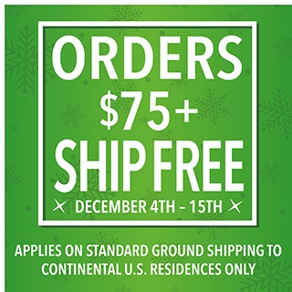 FREE SHIPPING OVER $75!