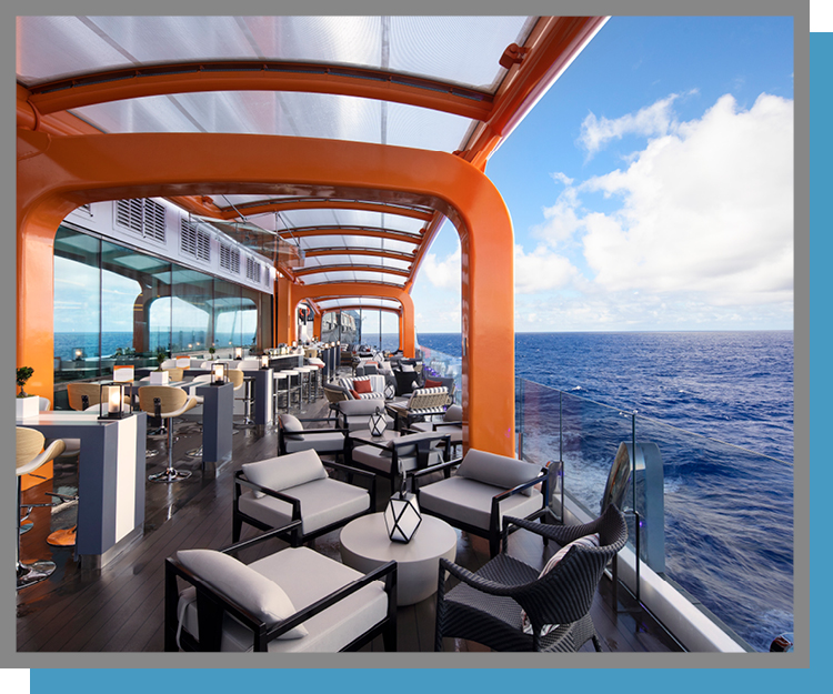 Bolidt Decking on Celebrity Edge's Magic Carpet