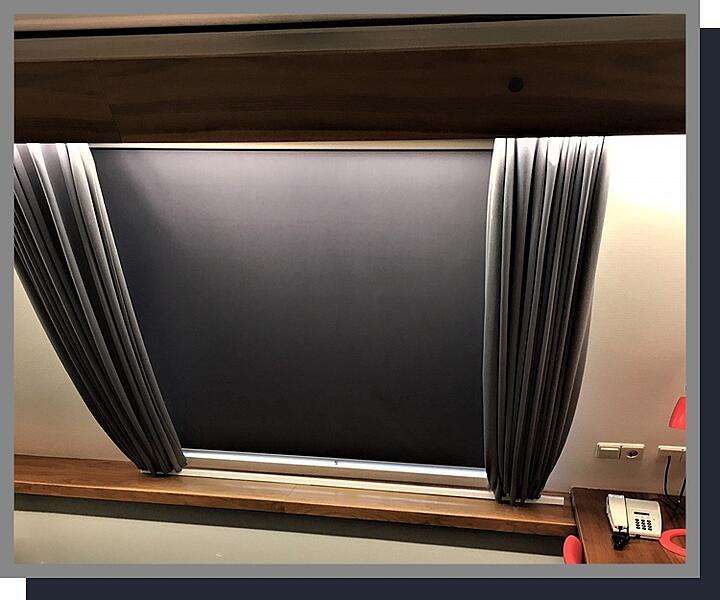 Solarglide Lunaglider Blackout Blinds