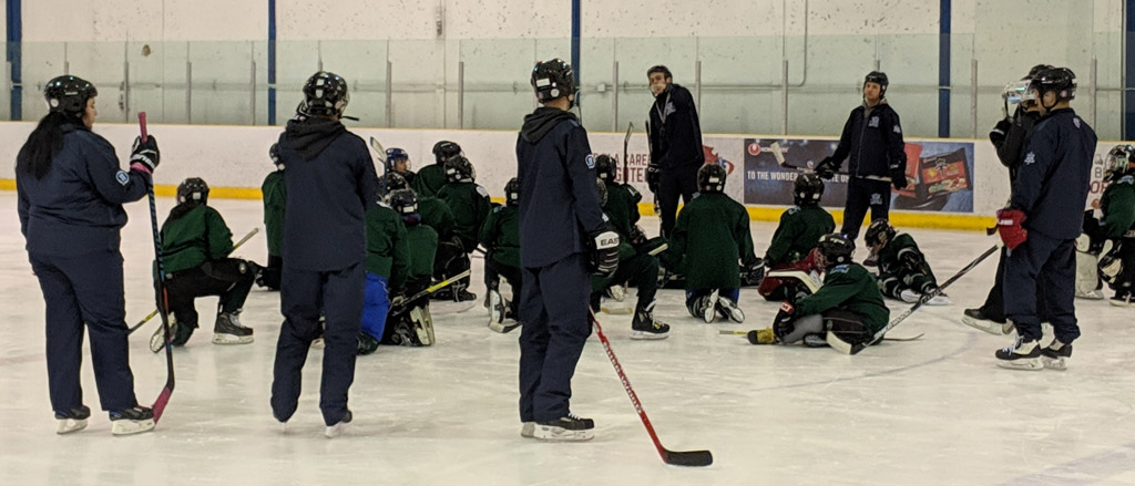 Watch: our staff on-ice with the Winnipeg Jets Hockey Academy