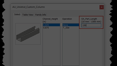 Inventor Tutorial: How to Publish Content Center Families with Numeric Controls from an iPart Table