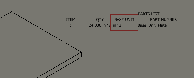 Set Area Base Units