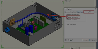 Inventor Tips & Tricks – How to Make Cable & Harness Objects Visible in Drawing Views