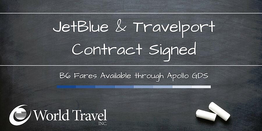JetBlue & Travelport Contract Signed