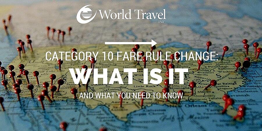 Category 10 Fare Rule Change