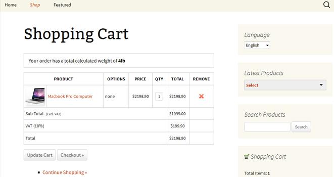 BlueSnap WordPress Shopping Cart Plugin
