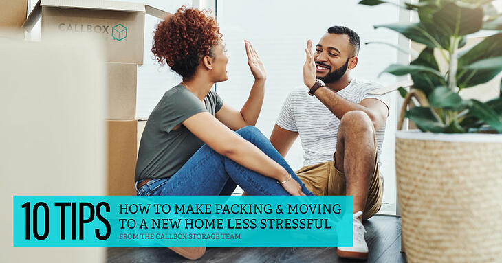 10 Tips to make packing & moving to a new home less stressful
