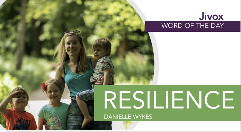 Jivox's managing director of EMEA, Danielle Wykes, shares her story about resilience.