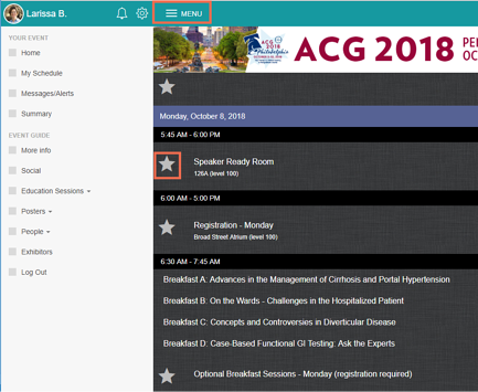 ACG 2018: Get the App and Get Organized