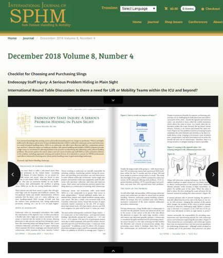 The International Journal of SPHM Highlights Endoscopy Nurse Injuries