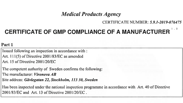 The world's first GMP certification for Electron Microscope Lab