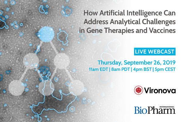Webinar: How Artificial Intelligence Can Address Analytical Challenges in Gene Therapies and Vaccines