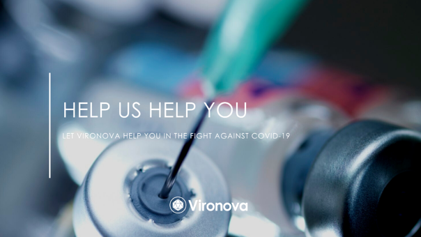 Let Vironova help you in the fight against COVID-19