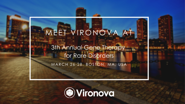 Meet us at the 3rd Gene Therapy for Rare Disorders Conference