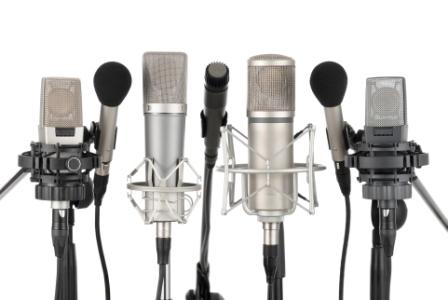 How many voice overs should be in on hold marketing - audio marketing - microphones for press conference