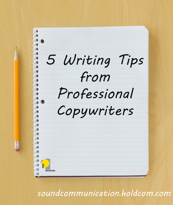Writing tips from professional copy writers - notebook and pencil