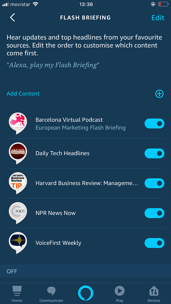 ALEXA | How to Hear Barcelona Virtual's European Marketing Flash Briefing