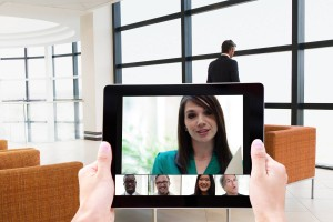 Video Conferencing on a Mobile Devier