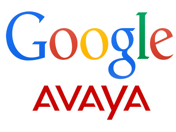Google and Avaya Logos