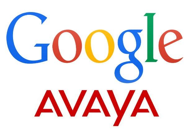 Google and Avaya Logos