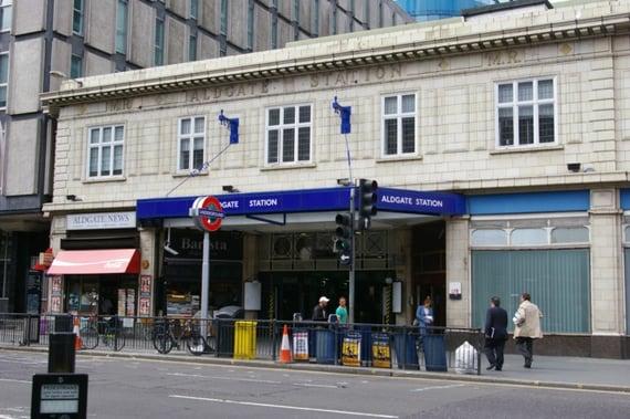 Exterior of Aldgate Station