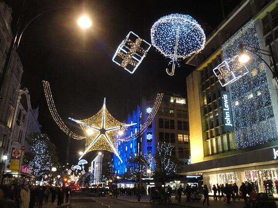 Christmas lights at Oxford Street