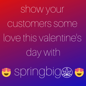 Spread The Love With These Cannabis Themed Valentine's Day Text Promotions.