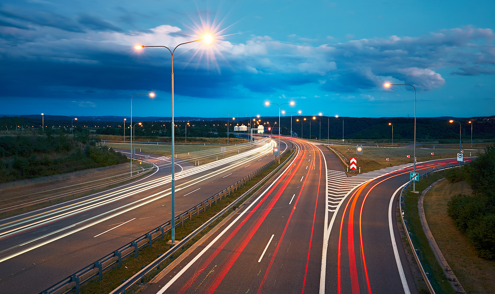 How to exit a motorway in a fuel-efficient way