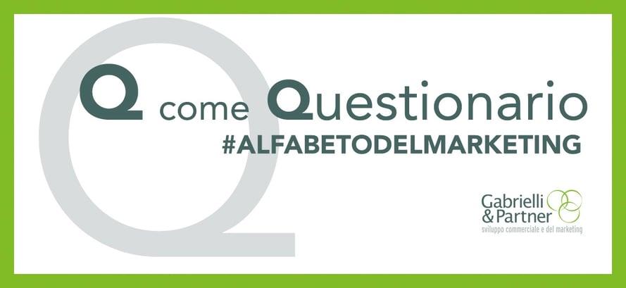 q come questionario alfabeto del marketing