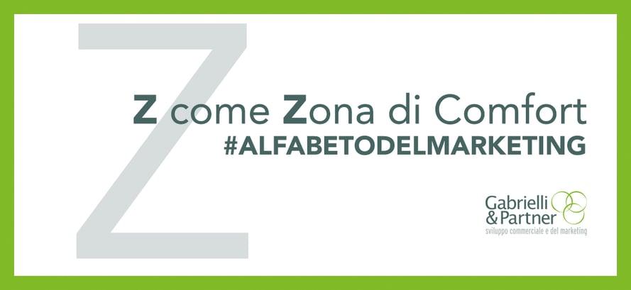 z come zona di comfort alfabeto del marketing copia