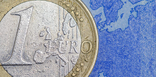 banner-large-euro-coin-on-note