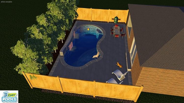 Inspiration Fiberglass Pool 26′ – Brampton Family