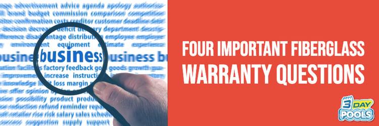 Four Important Fiberglass Pool Warranty Questions