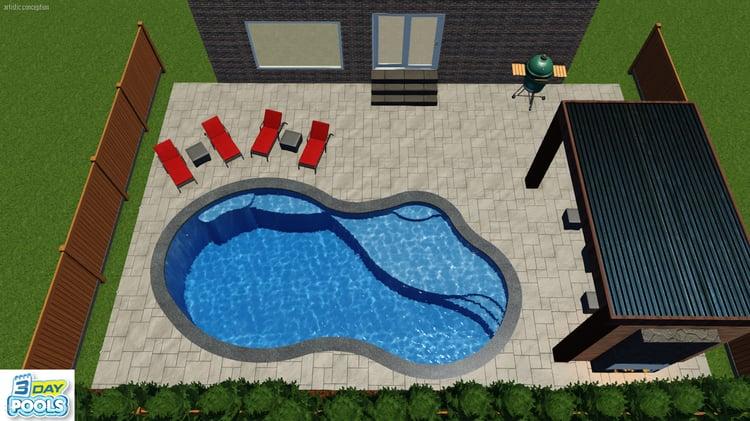 Stouffville Fiberglass Pool - 30' Inspiration Imagine Pool