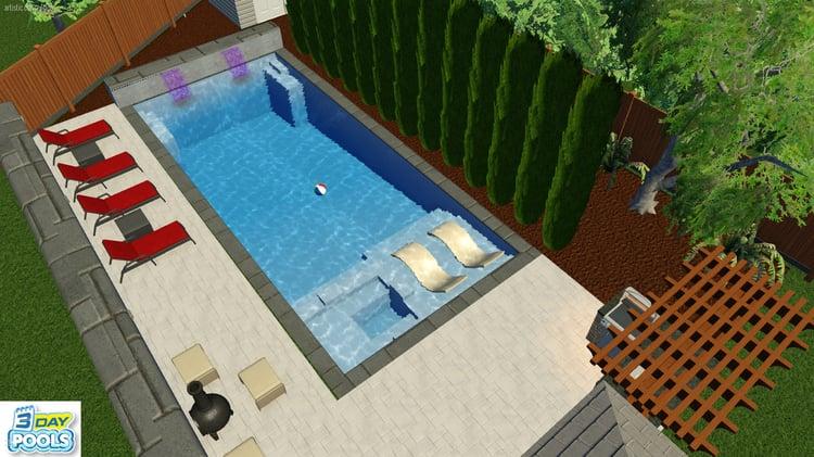 Woodbridge Pool - 35' Leisure Ultimate Design