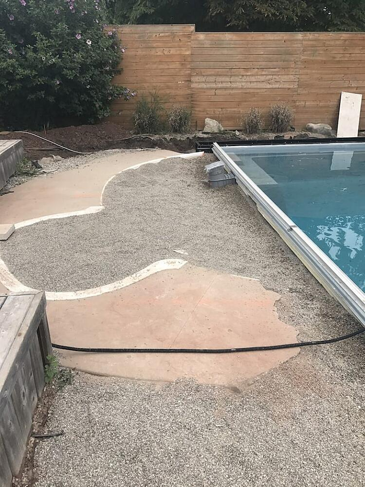 Vinyl Liner Pool Renovated with a Fiberglass Pool