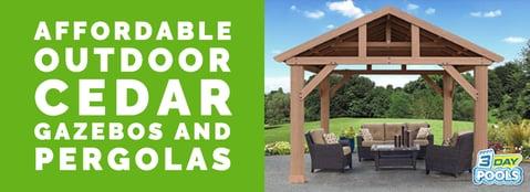 Affordable Outdoor Cedar Pergolas, Gazebo & Pavilions