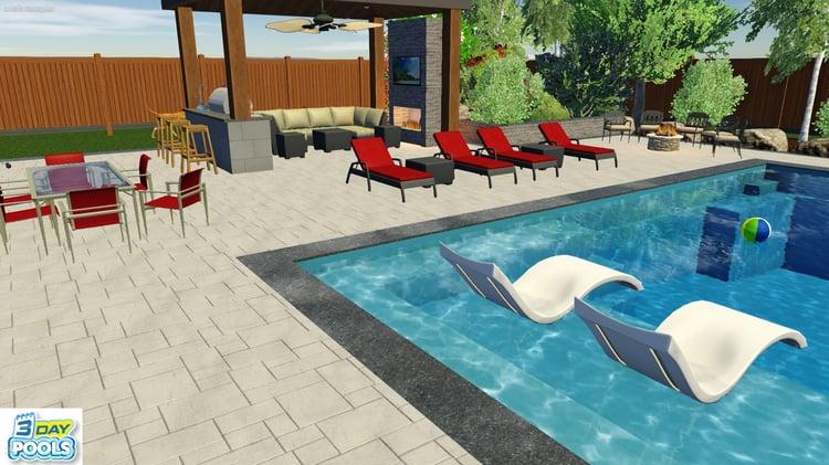 Imagine Pools - Illusion Family Fun Pool in Innisfil