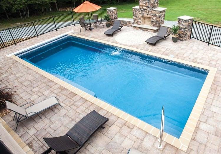 Small Backyard 12' x 24' Trilogy Sirius Pool