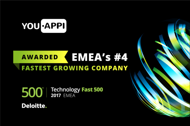 YouAppi Named #4 on Deloitte EMEA's Technology Fastest Growing List