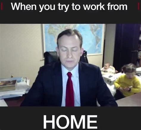 (meme) Working from home