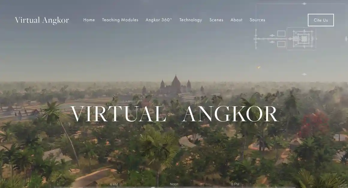 virtual angkor homepage