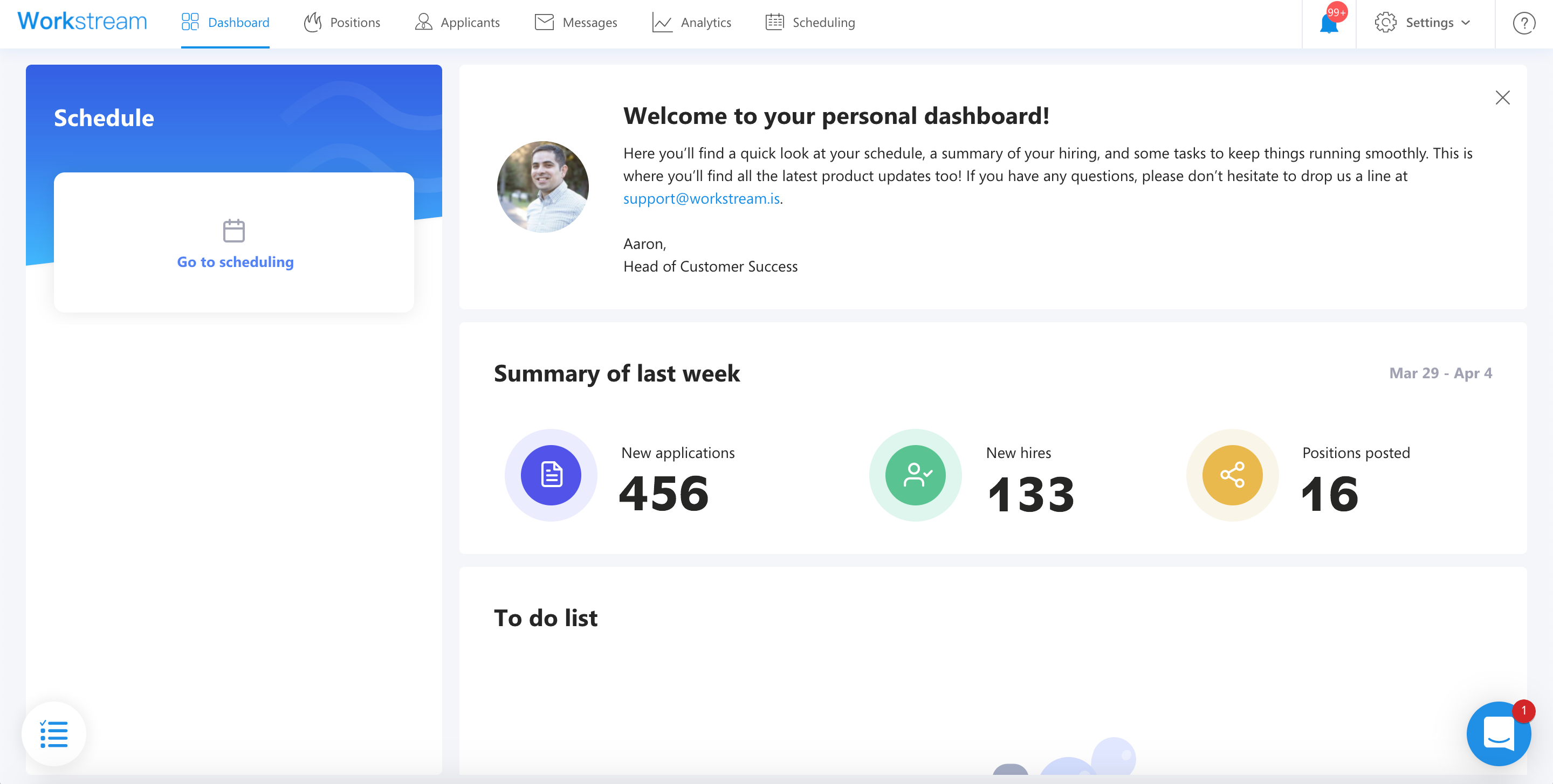 Deliverthat workstream dashboard