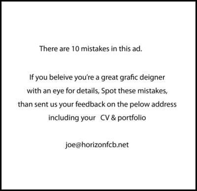 horizon fcb job posting