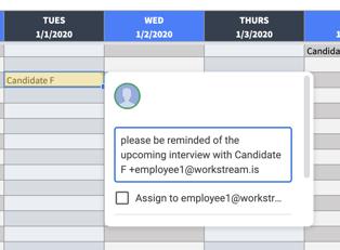 interview schedule reminder